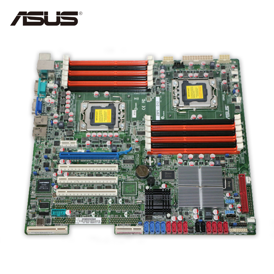 Asus Z8PE-D12X Server Motherboard S5520 X58 Socket LGA 1366 DDR3 Second-hand High Quality