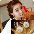 Wholesale Korean Earrings Fashion Cute Personality Hollow Ball Stud Earring