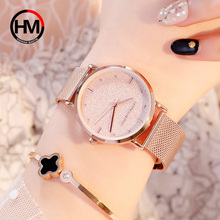 лучшая цена Ladies Watch Top Brand Luxury Starry Pink Quartz Watch Women Rose Gold Stainless Steel Waterproof Wristwatches relogio feminino