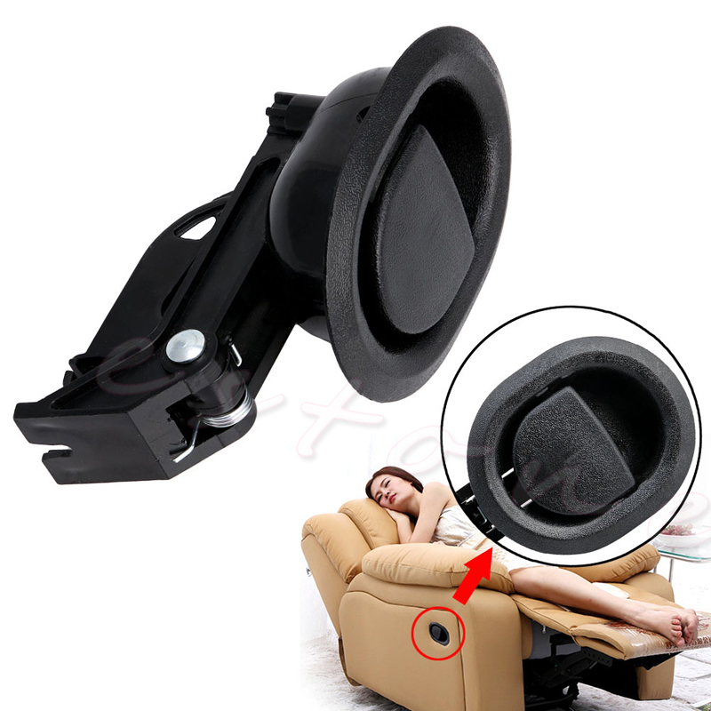 1Pc Recliner Sofa Chair Oval Release Lever Handle Black Hard Plastic New