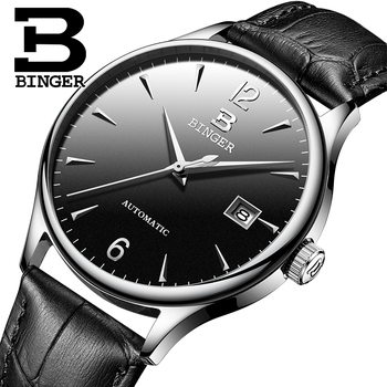 Switzerland Automatic Mechanical Men Watches Binger Luxury Brand Watch Men Sapphire clock Waterproof relogio masculino B-5082M-5