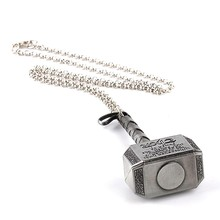 Thor Hammer Necklace Marvel Super Heroes Jewelry – Antique Silver Plated – 50cm