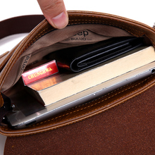 Man Messenger Bag and wallet 2 piece Men Pu Leather Shoulder Bags Business Crossbody Casual Bag
