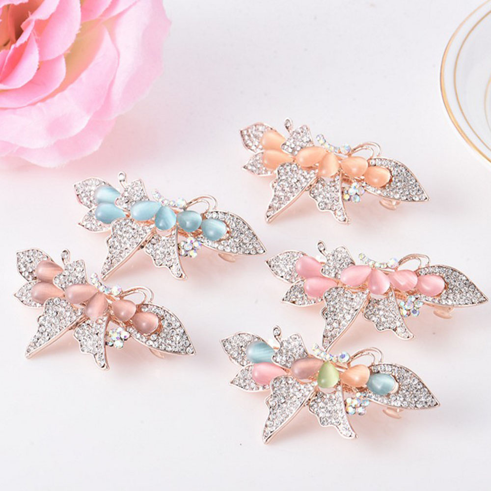 Retro Vintage Women Ladies Girls Hair Clips Crystal Butterfly Bowknot Hairpins Hair Accessories retro vintage women ladies girls hair clips crystal butterfly bowknot hairpins hair accessories