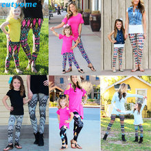 Matching Mother And Daughter Clothes Family Look Matching Pants Outfits Mommy And Me Kids Girls Women Leggings Suit Clothing