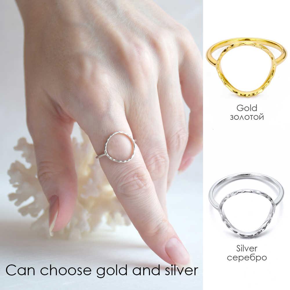E-Manco Minimalist เงิน 925 แหวนเงินสเตอร์ลิงง่ายหมั้นแหวนสำหรับเครื่องประดับคลาสสิก Femme ของขวัญ