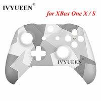 IVYUEEN đối với Microsoft Xbox One X S Slim Khiển Mùa Đông Lực Lượng Phiên Bản Đặc Biệt Vỏ Phía Trước Nhà Ở Đầu Faceplate Bìa