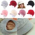 Warm Knitted Hats Women Beanies Rabbit Fur Cap Fashion Autumn Winter Headdress