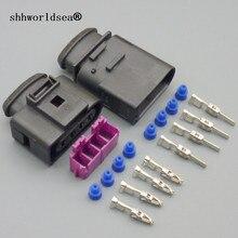 Shhworld sea1sets 4pin 1J0973724 1J0973824 4 пути автомобильный Водонепроницаемый Электрический разъем Ремонтный комплект чехол для audi для VW