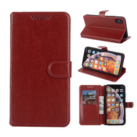 Flip Kickstand Cases Cover for Nokia 105 2017 TA-1010 Original Wallet Leather Cell Phone Case Pure Black Capa Back Covers