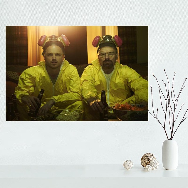 High quality custom breaking bad canvas painting poster cloth silk fabric wall art poster for fashion