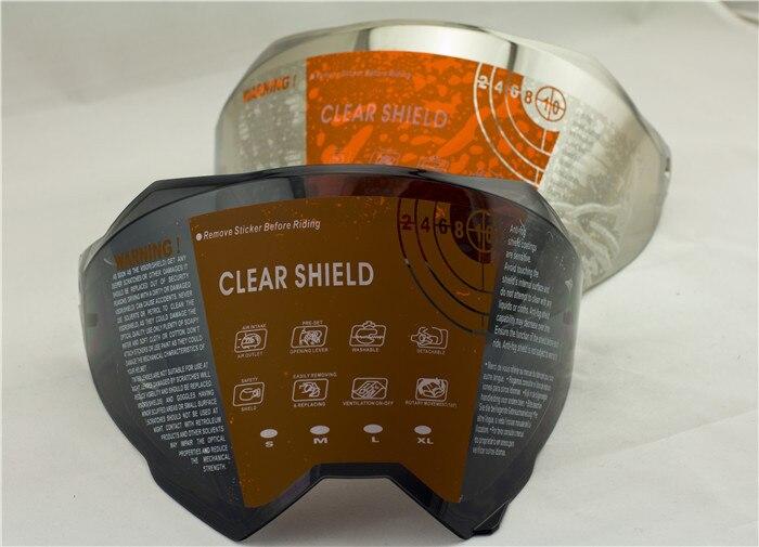 free shipping motorcycle helmet shield only suitable for our own helmet ATV motocross helmet lens