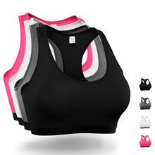 2017 Quick Dry Sports Bra Women Fitness Padded Yoga Bra Push Up Shockproof Gym Running Tank Cropped Tops European size S-XL
