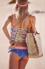 S XL Plus size Swimwear 2016 noble tank top bikini set women two pieces sweet corset