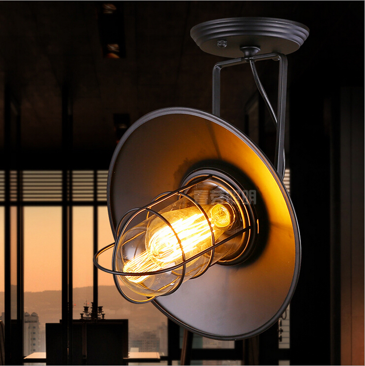 Nordic American country industrial personality retro minimalist style loft restaurant bar warehouse cage wall sconce lamp light  цены