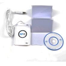 USB ACR122U NFC inteligentna karta RFID czytnik Writer dla wszystkich 4 rodzajów znaczników NFC (ISO/IEC18092) + 5 sztuk kart M1 + 1 SDK CD