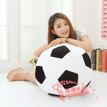 big new plush football toy lovely black&white football doll gift about 45cm 471