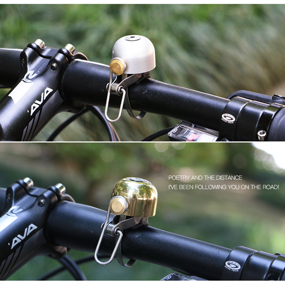 Cycling Bicycle Bike Handlebar Bell Copper Safety Bell Ring Horn Sound Alarm