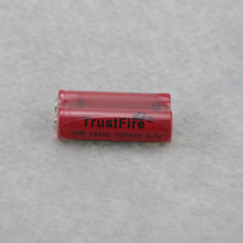 8pcs/lot TrustFire IMR 14500 700mAh 3.7V Rechargeable Li-ion Battery Power Batteries Output 5A For E-cigarette Torch Point Head