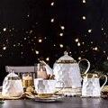 Керамическая Европейская кофейная чашка и тарелка набор простой бытовой креативности Пномпень высококачественный чайный набор