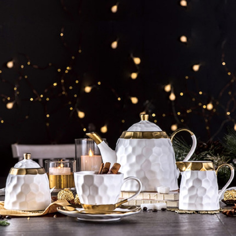 קרמיקה אירופאי כוס קפה וצלחת סט פשוט ביתי יצירתיות פנום פן תה סט