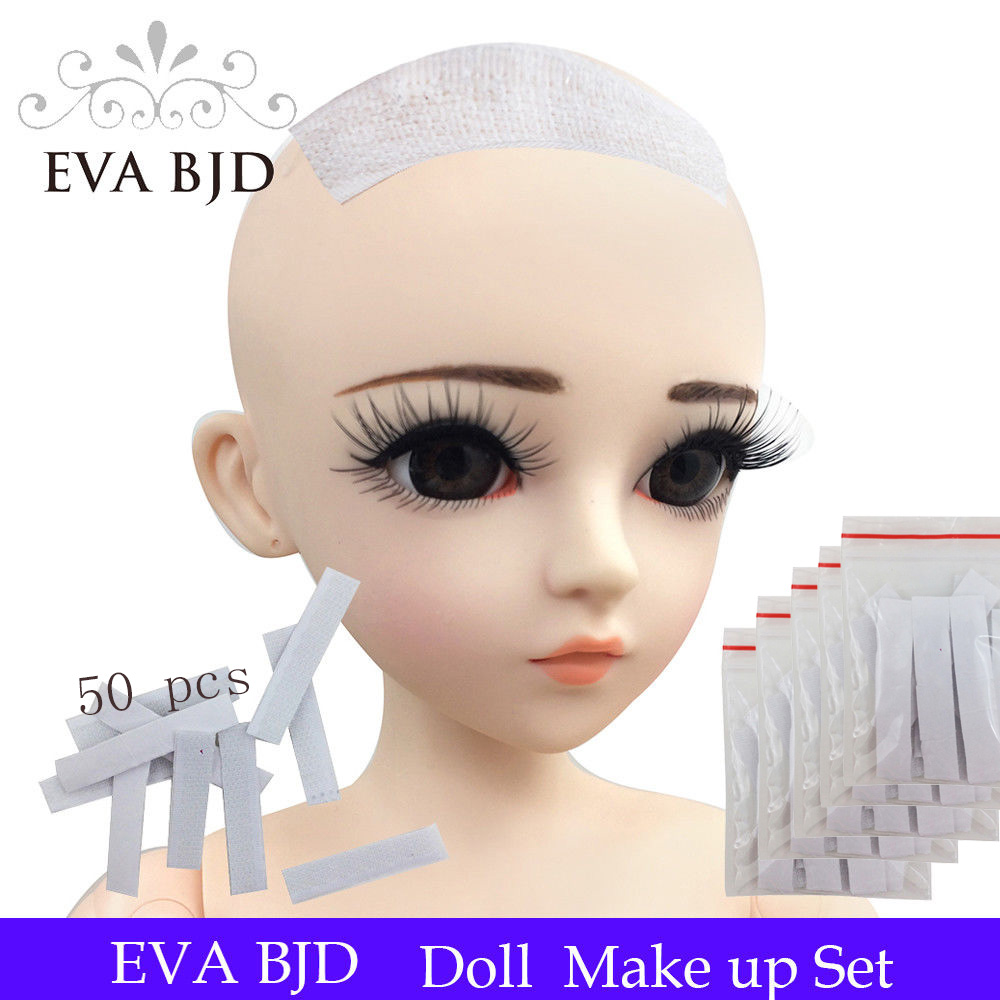 EVA BJD 5 x 10 Pieces/ bag ( 50 pcs ) Wig Fixer Solid Adhesive Hook Glue Sticky for BJD SD Doll Hair Wigs Dolls hair wig fixing кровать solid sd