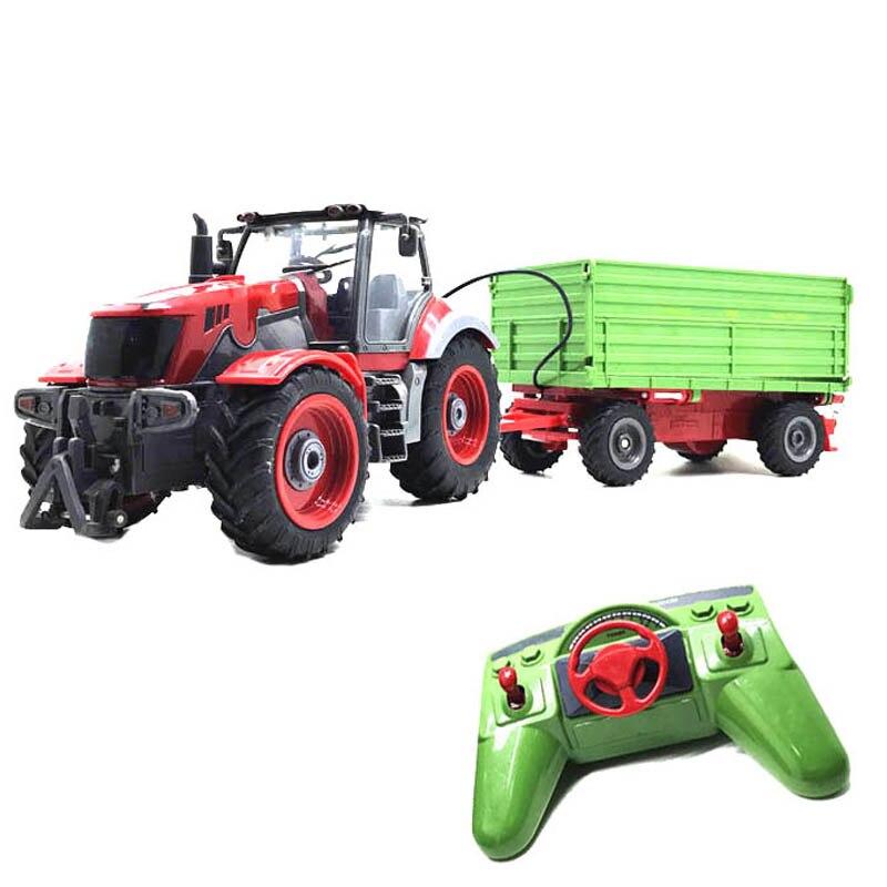 RC camion ferme camion télécommande Simulation 6 Ch 4 roues tracteur Auto Dumper électronique passe-temps jouets pour enfants cadeau de noël