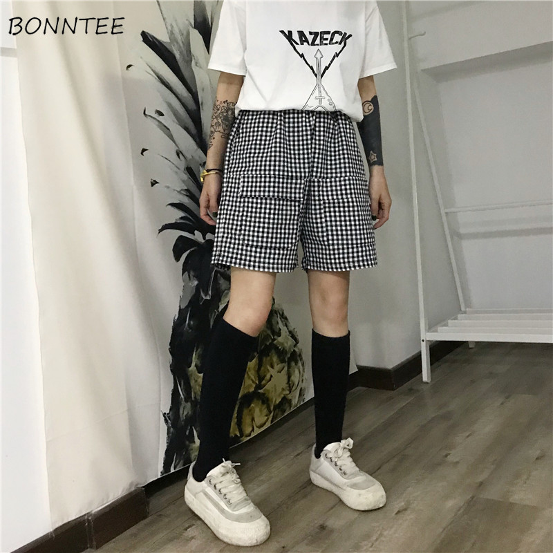 78eb408f2 Shorts Women Retro Students Casual Daily Loose BF Ulzzang Simple Womens  All-match Straight Short