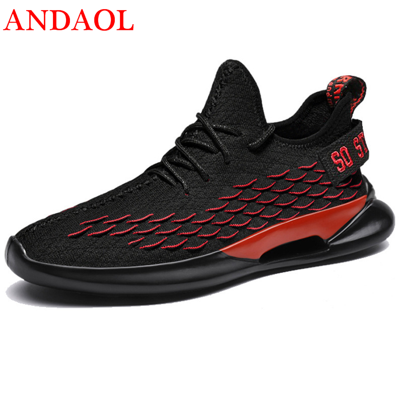 ANDAOL Men's Casual Shoes Top Quality Mesh Breathable Designer driving Sneakers Luxury Trend Fashion Non Slip Campus Trainers