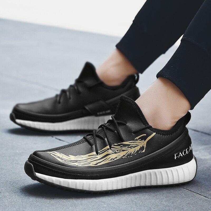 2019 nuevos zapatos de hombre 3 en 1 zapatos cambiados jóvenes fiesta Casual pisos estudiantes moda Flykint malla zapatos de negocios para adultos - 3