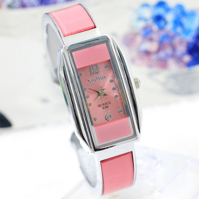 Xinhua Brand Woman Watches 2016 Luxury Rectangle Stainless Steel Bracelet Watch