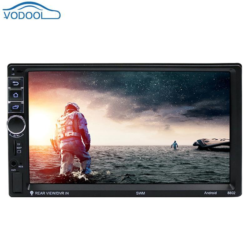 Vodool 7in 2 DIN Écran Tactile Voiture Lecteur Multimédia Android 7.1 Bluetooth Voiture GPS Navigator Avec Caméra 1g/ 16g Auto MP5 Lecteur