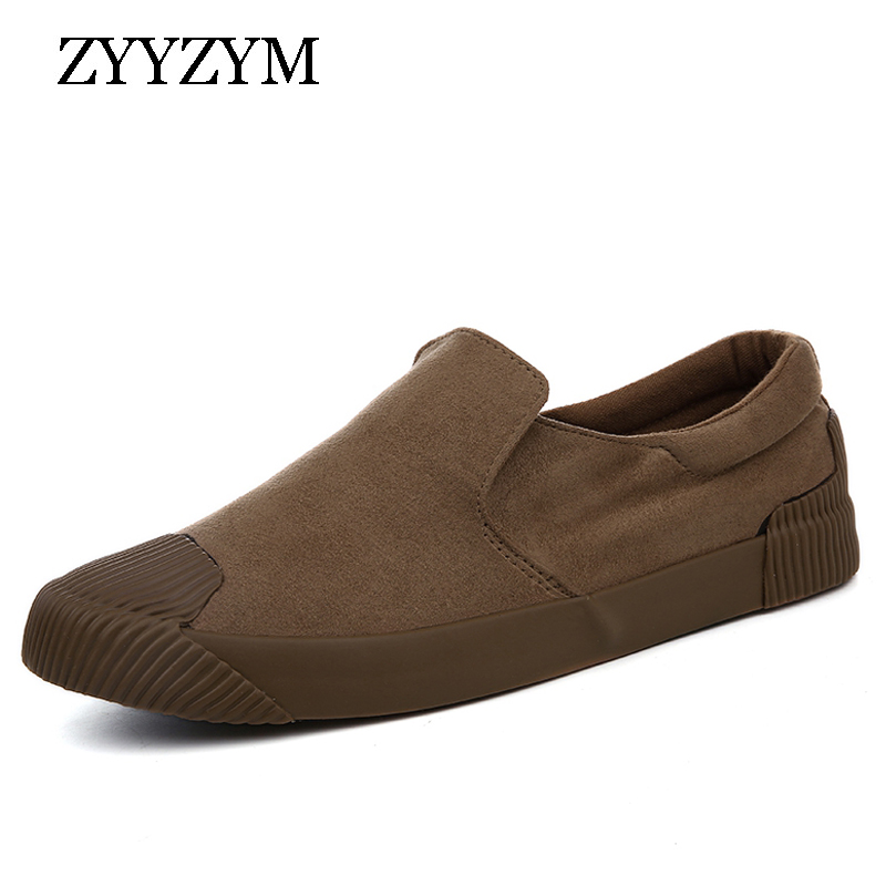 ZYYZYM Män Canvas Skor Slip-On Style Andas Bekväma Top Fashion - Herrskor