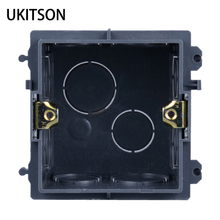 Black Color 86mm Hiding Installation Concealed Mount Box Enclosure Junction Wiring Boxes For Wall Outlet Panel