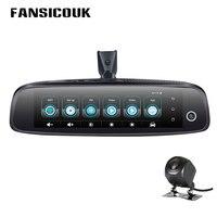 FANSICOUK 8 ''4G 1080 P Видеорегистраторы для автомобилей 3CH Камера s Зеркало заднего вида 2 GB + 32 ГБ регистраторы Android 5,1 Регистраторы gps WI FI ADAS регистрат