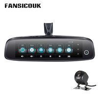 FANSICOUK 8'' 4G 1080P Car DVR 3CH Cameras Rearview Mirror 2GB+32GB Dash Cam Android 5.1 Recorder GPS WIFI ADAS Registrar Camera