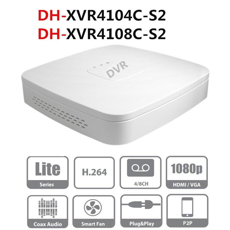 DH 4 Channel 8 Channel XVR Penta brid 720P Smart 1U Digital Video Recorder XVR4104C S2 XVR4108C S2 Support HDD up to 8TB Surveillance Video Recorder     - title=