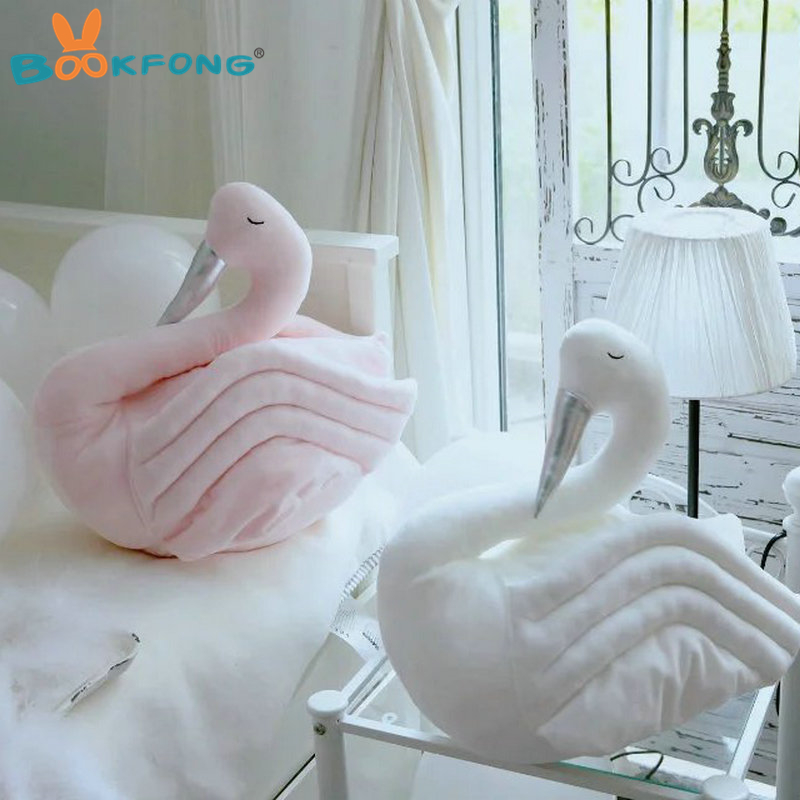40cm New Cartoon swan plush toys stuffed plush animal toy soft household interior decorative pillow children gift toy cute 40cm cartoon alpaca plush toy fabric sheep stitch stuffed and soft animal toys llama pillow birthday gift toys for children