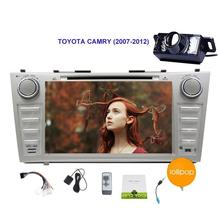 Free Camera Android 5.1.1 Stereo GPS Navigation Car DVD Player for TOYOTA CAMRY Autoradio Bluetooth Headunit HD Autoradio Audio