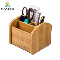 Rotating Wooden Pen Holder Mutli Function Stationery Holder Office Desk Stationery Creative Desk Organizer Glosen C2029