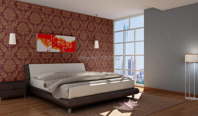 Modern Stylec Beige French Floral Feature Wall Decor Wallpaper Paper Roll For Living Room