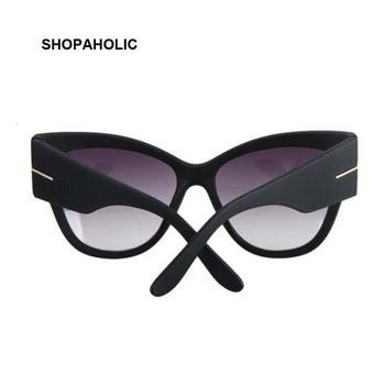 New Gradient Points Cat Eye Women Sunglasses Tom High Fashion Sun Glasses Female Cateyes Sunglasses Women Brand Designer Oculos 2