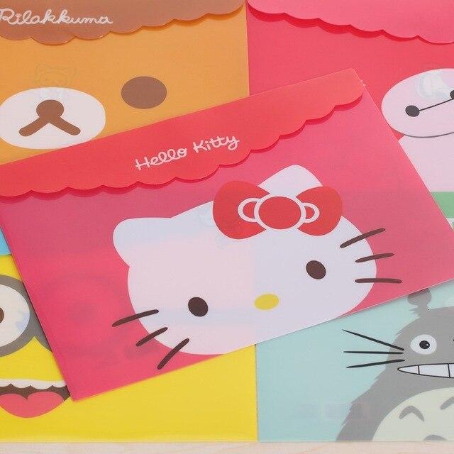 12 Styles Cartoob Folder Cute Mini File Bag Document Manila Stationery Filing Products School