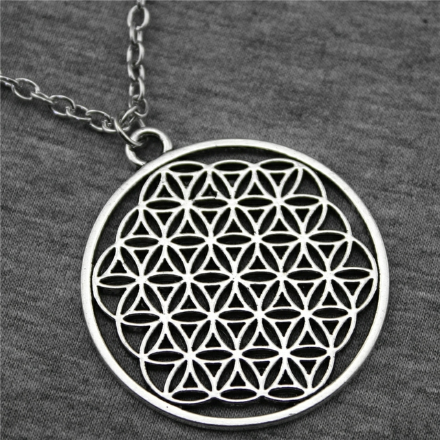 WYSIWYG 47x42mm The Flower Of Life, The Seed Of Life Pendant Necklace,  Fashion Jewelry Gift For Women Dropship Suppliers-in Pendant Necklaces from