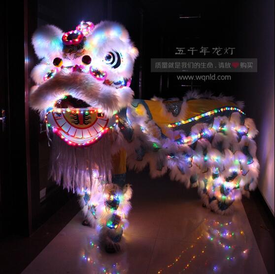 High Quality Lion Dance Chinese Lion Dance Costume Foshan Wool Fashion Light Lion
