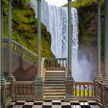 beibehang Large custom wallpapers palace romas waterfall landscape 3d T