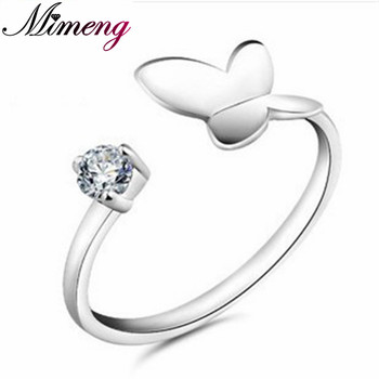 Silver 925 Sterling Silver Jewelry Lovely Female Models Ring Silver Butterfly Ring Birthday Present! Free Shipping mariposa en plata anillo