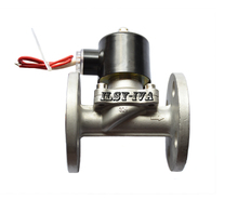 DC24V two way Stainless steel Normally closed flange solenoid valve