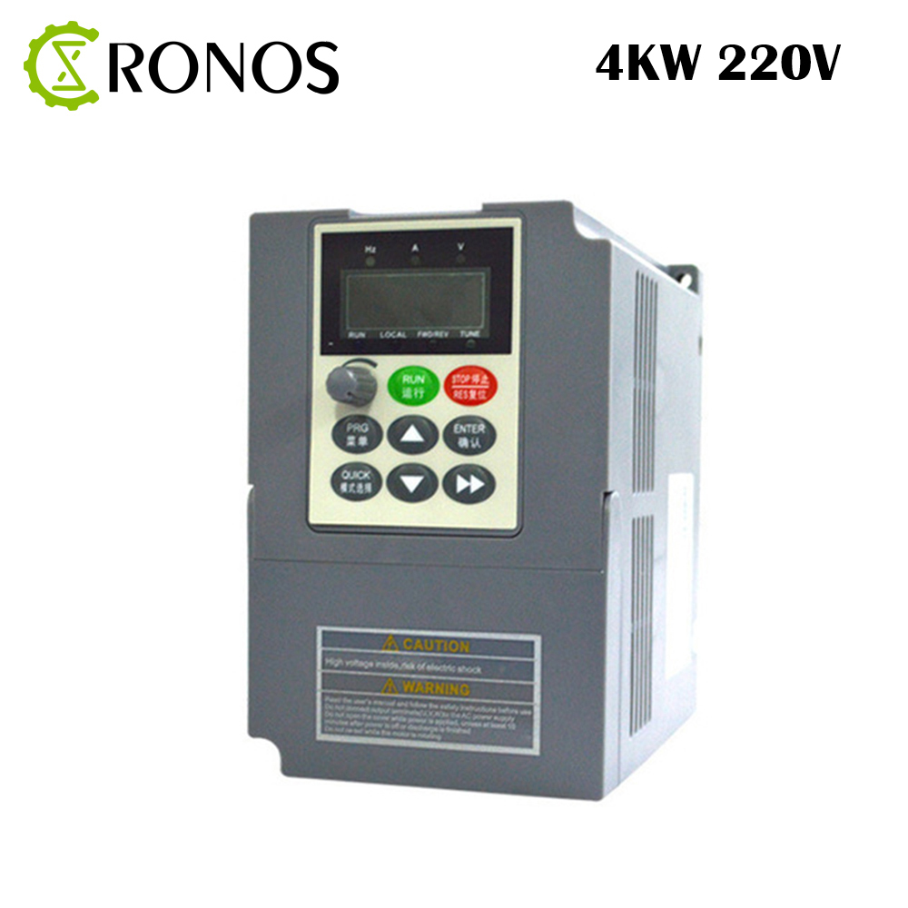 цена на 220V 4KW 17A Frequeny Inverter 1 Phase Input and 220V 3 Phase Output Frequency Converter/ AC Motor Drive/ AC Drive/ VSD/ VFD