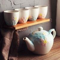 Cherry blossom tea set tea pot ceramic home tea bottle large capacity retro cooling kettle